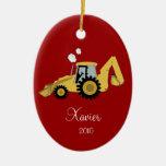 Ornamento personalizado CAVADOR del navidad de la Ornamentos De Reyes