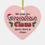 Ornamento personalizado Claus de la abuela Ornamentos De Reyes