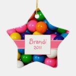 Ornamento personalizado de Bubblegum Adorno De Cerámica En Forma De Estrella