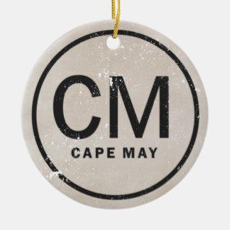 Ornamento personalizado de Cape May NJ del estilo Adorno Navideño Redondo De Cerámica
