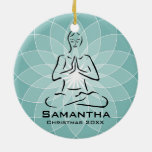 Ornamento personalizado de la actitud de la yoga ornato