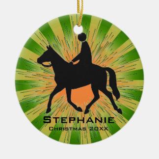 Ornamento personalizado de la equitación adorno de navidad