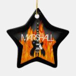 Ornamento personalizado de la estrella del rock adorno de cerámica en forma de estrella