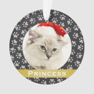 Ornamento personalizado de la foto del gato del