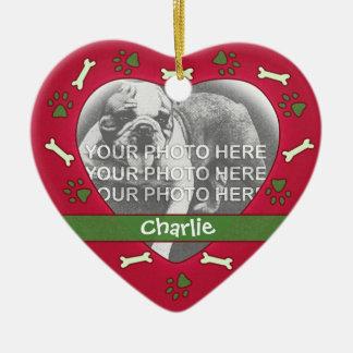 Ornamento personalizado de la foto del mascota adorno de navidad