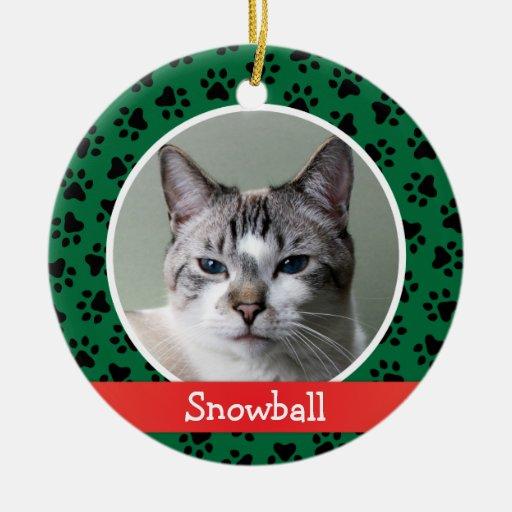Ornamento personalizado de la foto del mascota del ornamento para reyes magos