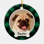 Ornamento personalizado de la foto del perro de adornos