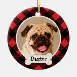 Ornamento personalizado de la foto del perro de pe ornato