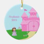 Ornamento personalizado de la princesa y del chica ornamentos de navidad