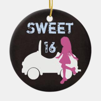 Ornamento personalizado de la silueta del dulce 16 adornos