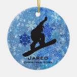 Ornamento personalizado de la snowboard adorno para reyes