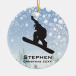 Ornamento personalizado de la snowboard ornaments para arbol de navidad