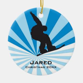 Ornamento personalizado de la snowboard ornamentos de reyes magos