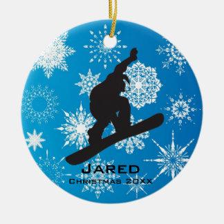 Ornamento personalizado de la snowboard ornamento para arbol de navidad