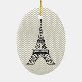 Ornamento personalizado de la torre Eiffel de Chev Adorno Para Reyes