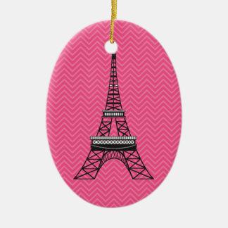 Ornamento personalizado de la torre Eiffel de Chev Ornamento Para Reyes Magos