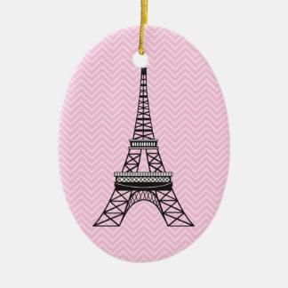 Ornamento personalizado de la torre Eiffel de Chev Ornamentos De Reyes