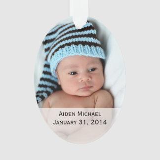 Ornamento personalizado de las fotos del bebé