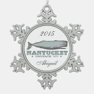 Ornamento personalizado de Nantucket mA de la ball Adornos