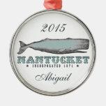 Ornamento personalizado de Nantucket mA de la ball Ornaments Para Arbol De Navidad