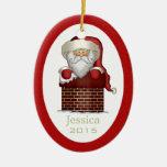 Ornamento personalizado de Papá Noel Ornaments Para Arbol De Navidad