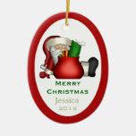 Ornamento personalizado de Papá Noel Ornato