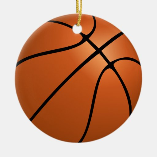 Ornamento personalizado del baloncesto de la foto adorno redondo de cerámica