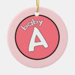 """Ornamento personalizado del """"bebé A"""" para los Ornamento Para Reyes Magos"""