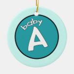 """Ornamento personalizado del """"bebé A"""" para los múlt Adornos"""
