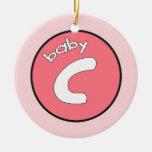 """Ornamento personalizado del """"bebé C"""" para los múlt Ornamente De Reyes"""