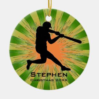 Ornamento personalizado del béisbol ornamento de reyes magos