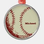 Ornamento personalizado del béisbol del vintage adorno