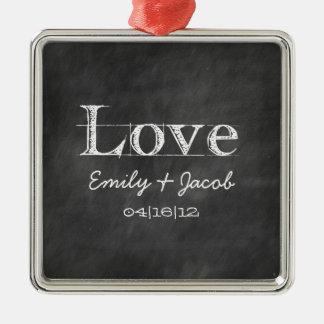 Ornamento personalizado del boda del amor de la pi adornos