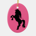 Ornamento personalizado del caballo de la silueta ornamentos de reyes magos