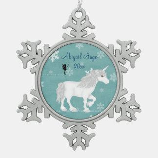 Ornamento personalizado del copo de nieve del unic adornos