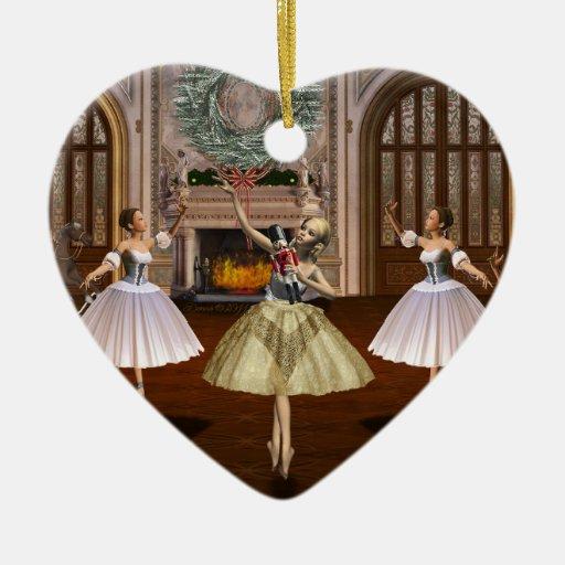 Ornamento personalizado del corazón de la ornato