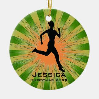 Ornamento personalizado del corredor del basculado ornaments para arbol de navidad