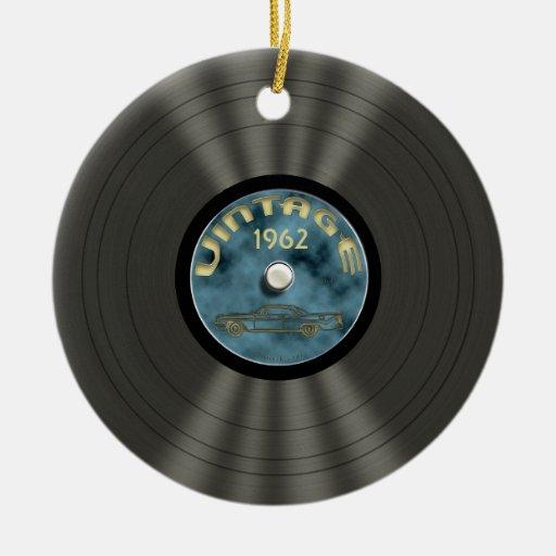 Ornamento personalizado del disco de vinilo del adorno de navidad