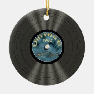 Ornamento personalizado del disco de vinilo del vi adorno de navidad