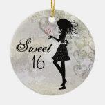 Ornamento personalizado del dulce 16 del chica de  ornamento para reyes magos
