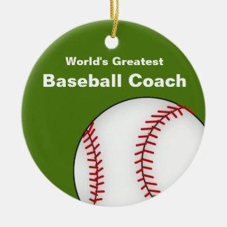 Ornamento personalizado del entrenador de béisbol adorno de reyes
