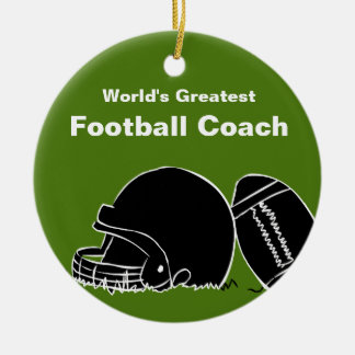 Ornamento personalizado del entrenador de fútbol adornos