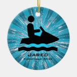 Ornamento personalizado del esquí del jet ornamento para arbol de navidad