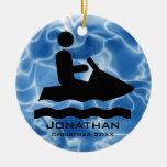 Ornamento personalizado del esquí del jet ornamentos para reyes magos
