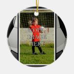 Ornamento personalizado del fútbol ornamento de reyes magos