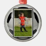 Ornamento personalizado del fútbol ornamentos de reyes