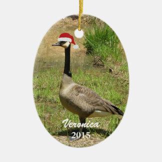 Ornamento personalizado del ganso del navidad ornatos