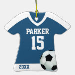Ornamento personalizado del jersey de fútbol adornos de navidad