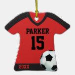 Ornamento personalizado del jersey de fútbol ornamento de reyes magos