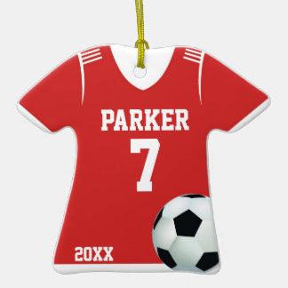 Ornamento personalizado del jersey de fútbol adorno de navidad